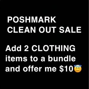 POSHMARK CLEAN OUT SALE